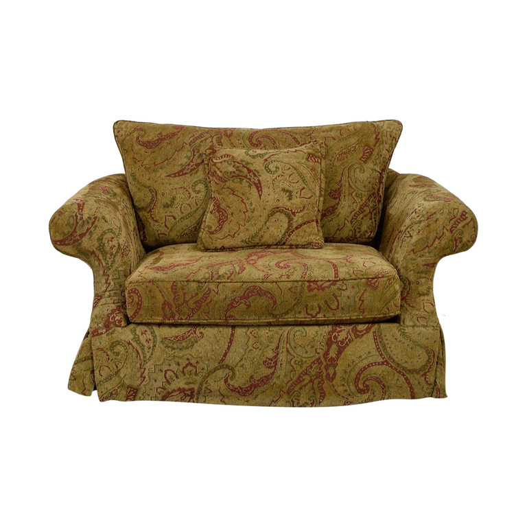 Bernhardt Bernhardt Gold and Red Love Seat dimensions