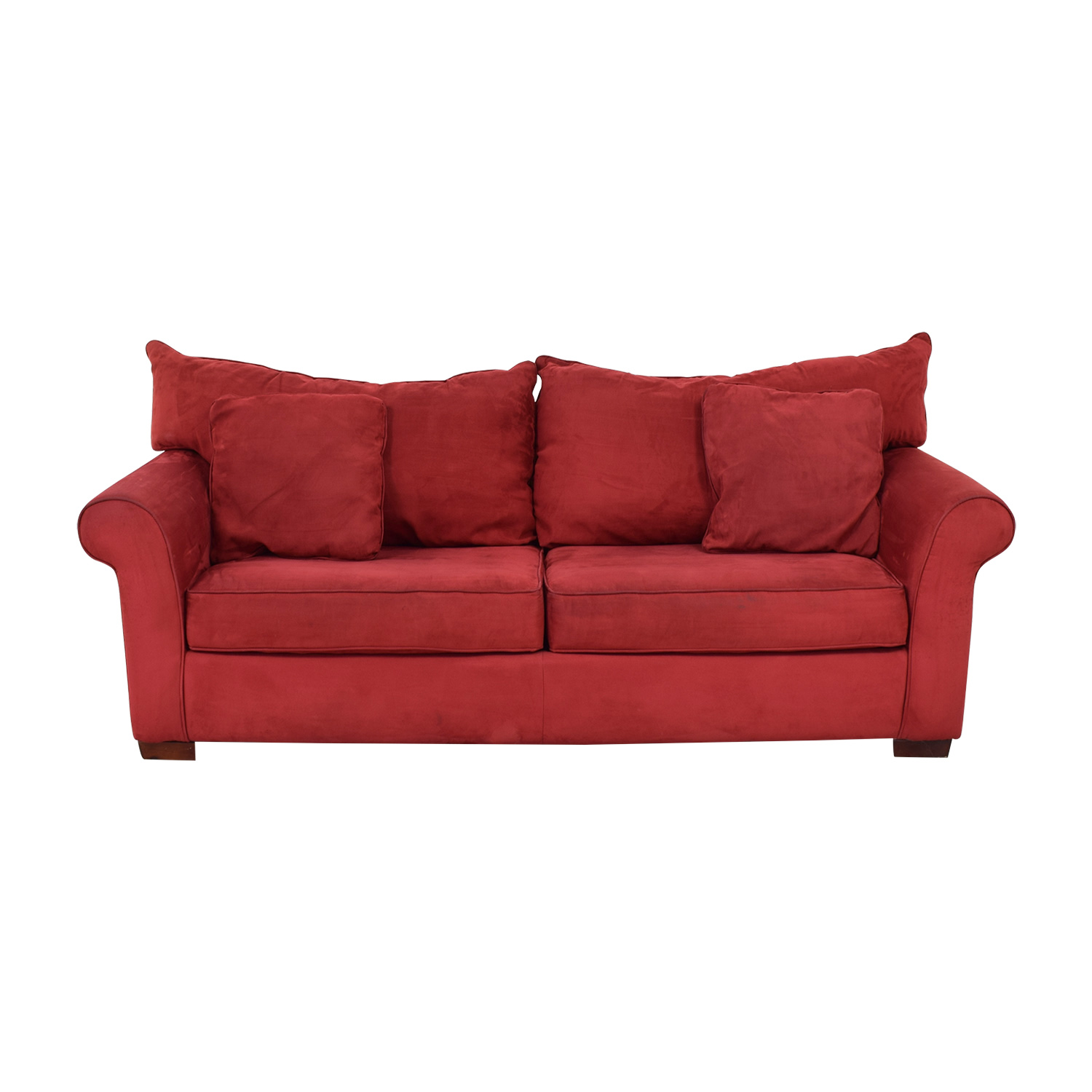 Red Three Seater Sofa Dimensions
