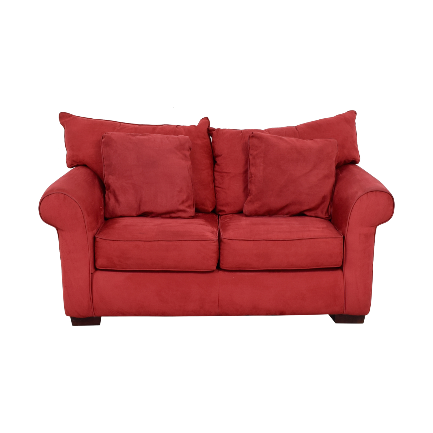 Jackson Furniture Jackson Furniture Red Two-Cushion Loveseat second hand
