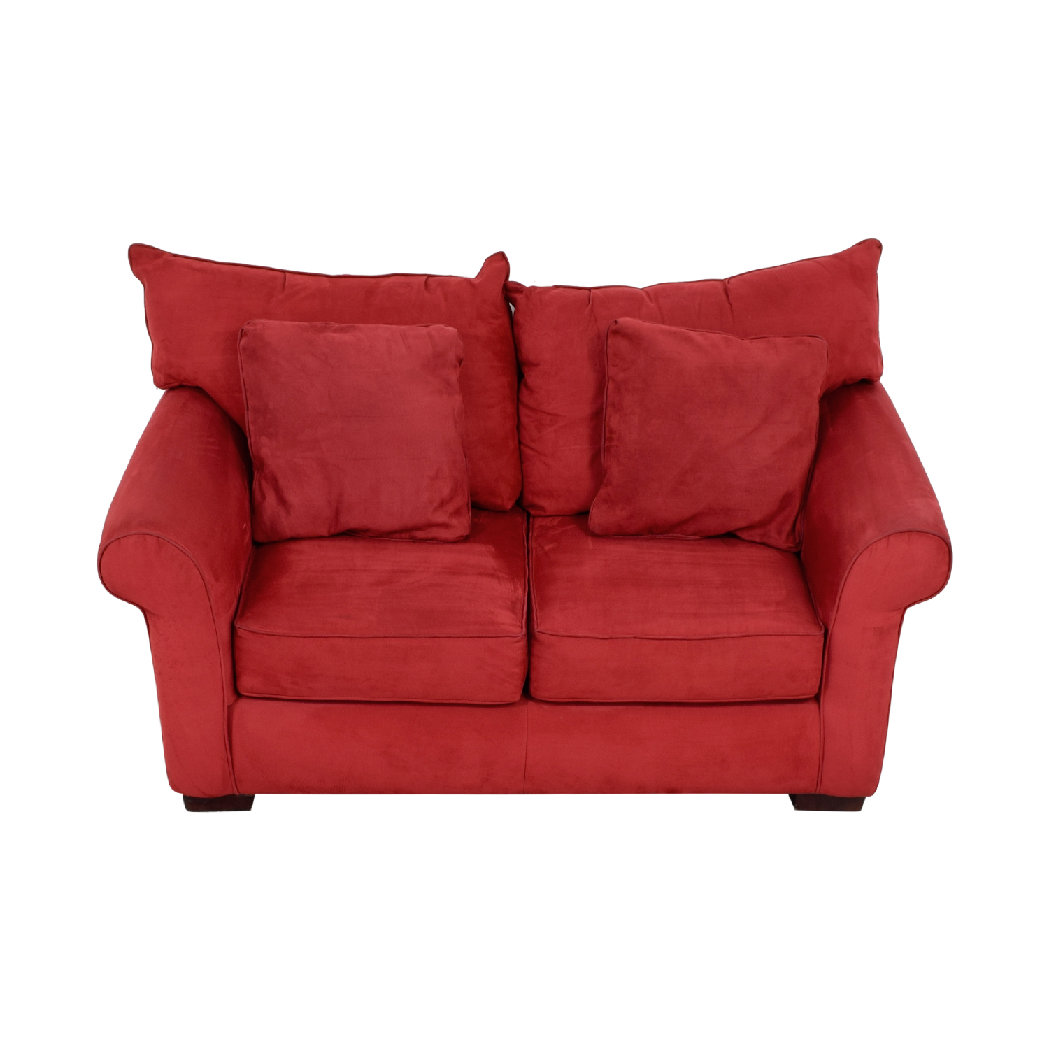 Jackson Furniture Jackson Furniture Red Two-Cushion Loveseat Sofas