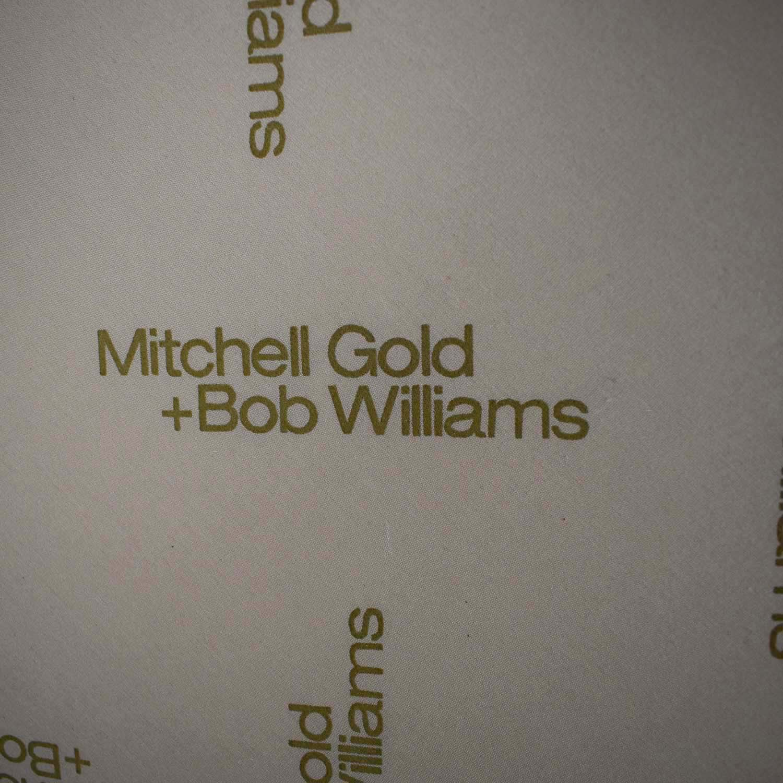 buy Mitchell Gold + Bob Williams Ainsley White Two-Cushion Sofa Mitchell Gold + Bob Williams