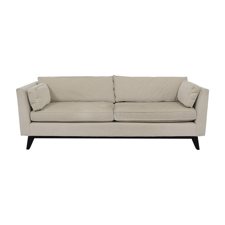 Mitchell Gold + Bob Williams Ainsley White Two-Cushion Sofa / Classic Sofas