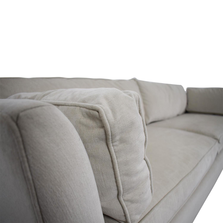 Mitchell Gold + Bob Williams Ainsley White Two-Cushion Sofa Mitchell Gold + Bob Williams