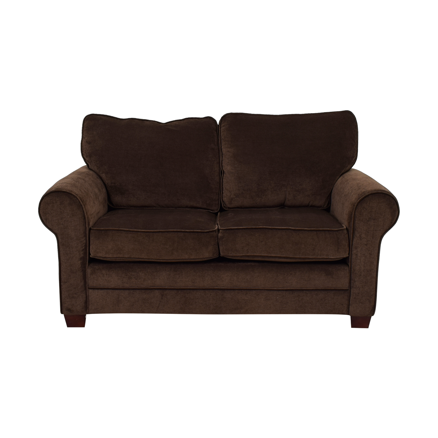 shop Bob's Furniture Bob's Furniture Brown Loveseat online