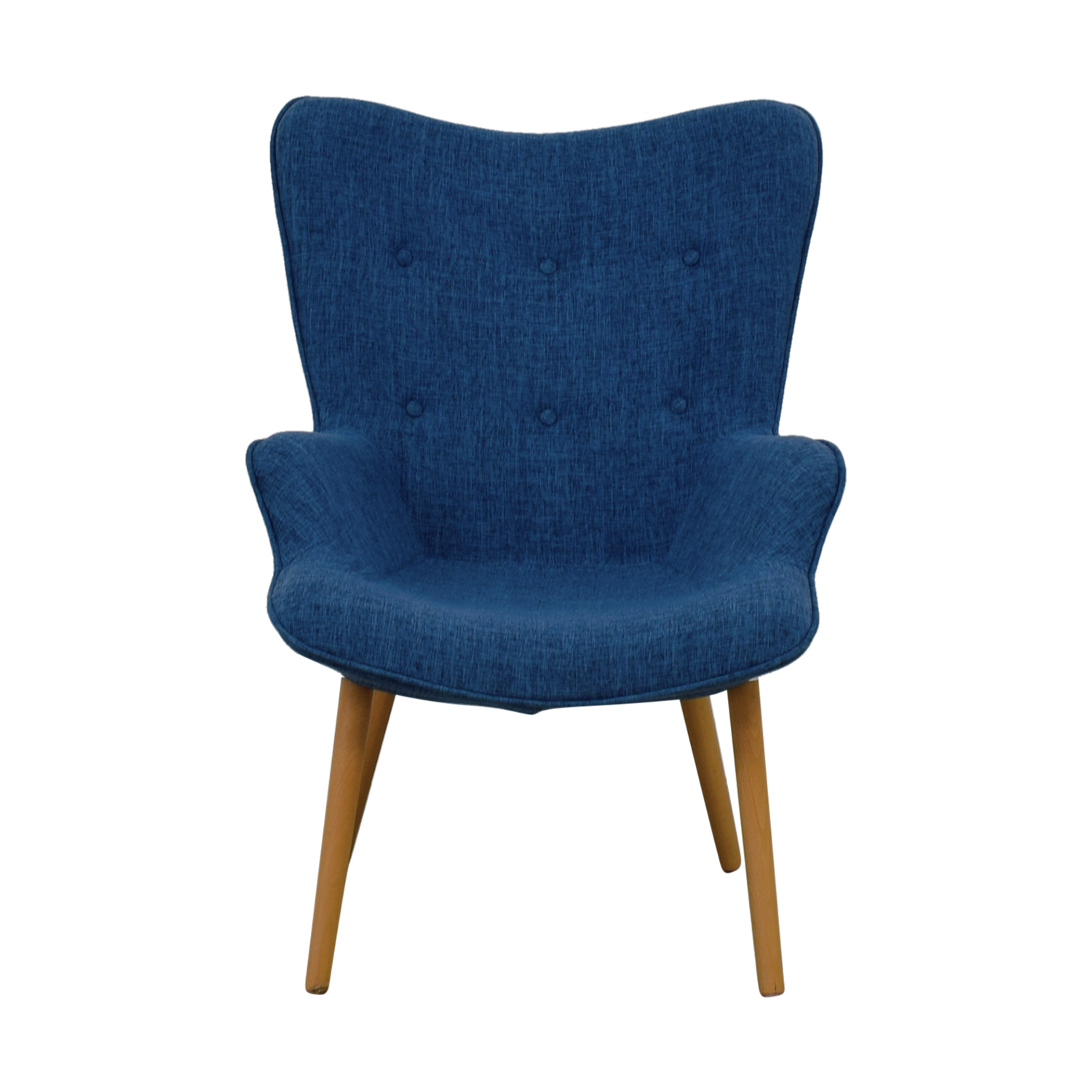 Christopher Knight Home Christopher Knight Home Fayola Blue Tufted Accent Chair for sale
