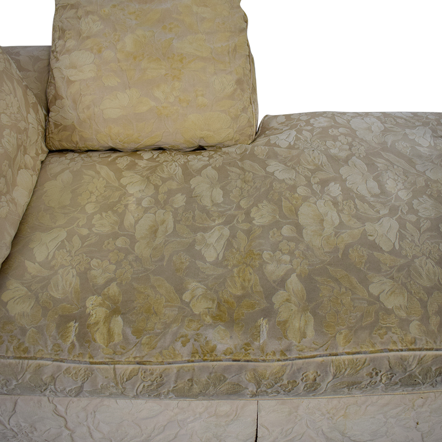 Jacquard Beige Skirted Chaise coupon