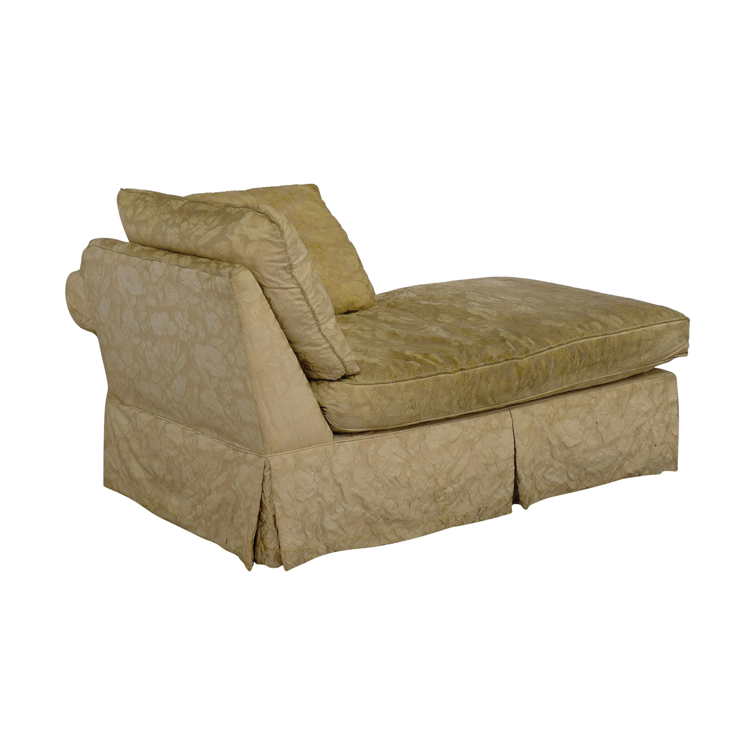 buy Jacquard Beige Skirted Chaise  Sofas