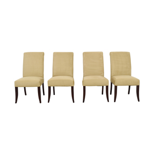 Pottery Barn Pottery Barn Beige Upholstered Dining Chairs second hand