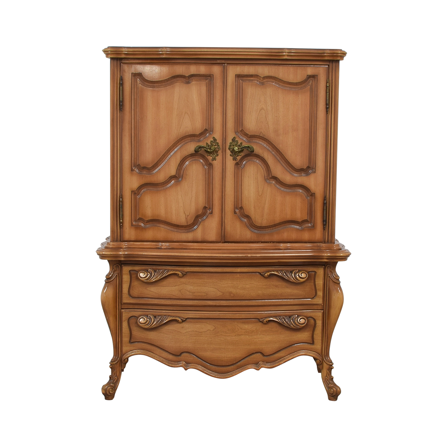 Dovetailed Carved Wood Chest of Drawers Armoire nj