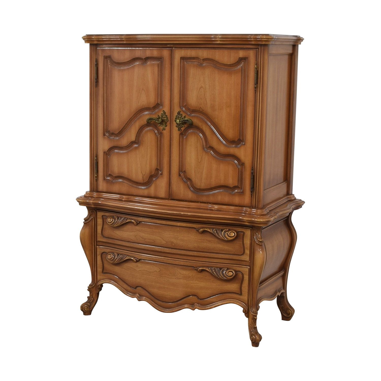 Dovetailed Carved Wood Chest of Drawers Armoire coupon
