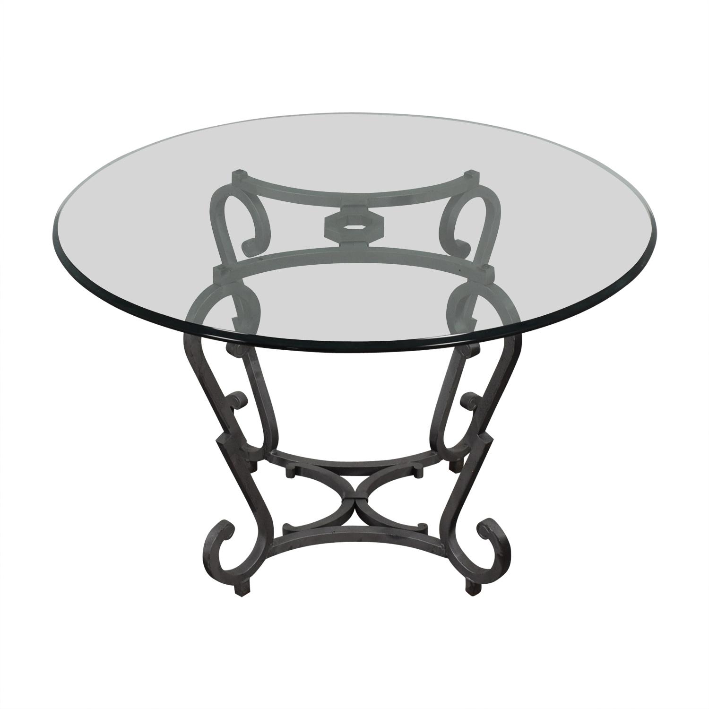 Ralph Lauren Ralph Lauren Glass Top Kitchen Table on sale