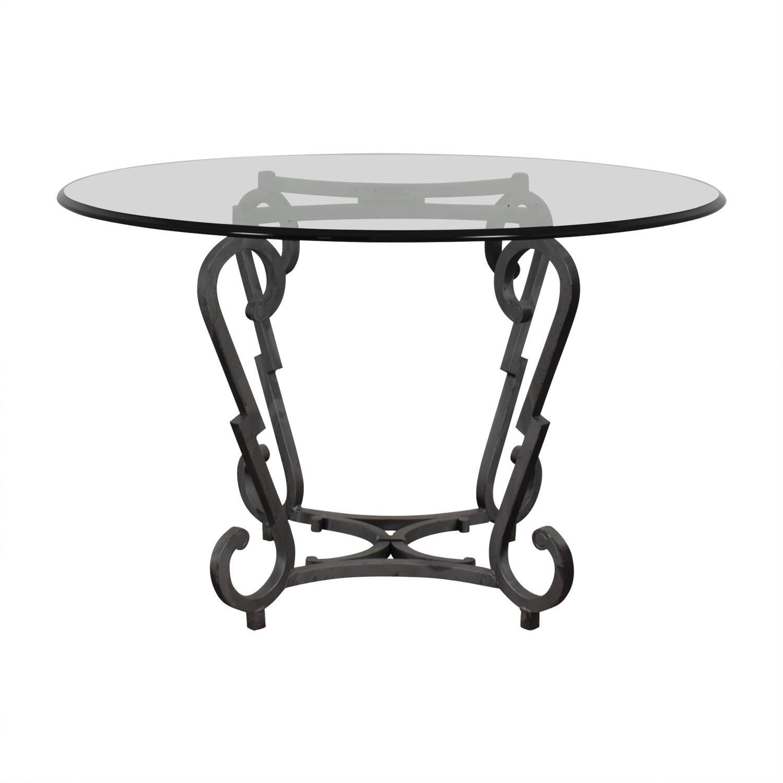 Ralph Lauren Ralph Lauren Glass Top Kitchen Table for sale