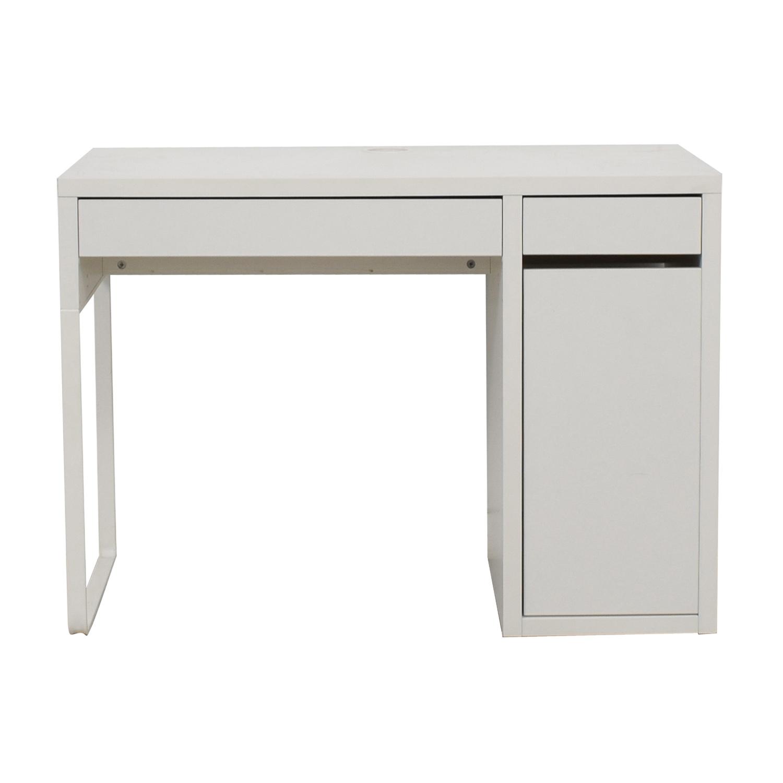 Attirant 64% OFF   IKEA IKEA White Desk / Tables