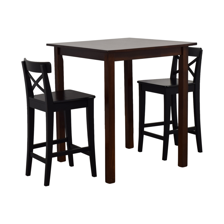 58 off ikea ikea ingolf bar table set tables. Black Bedroom Furniture Sets. Home Design Ideas