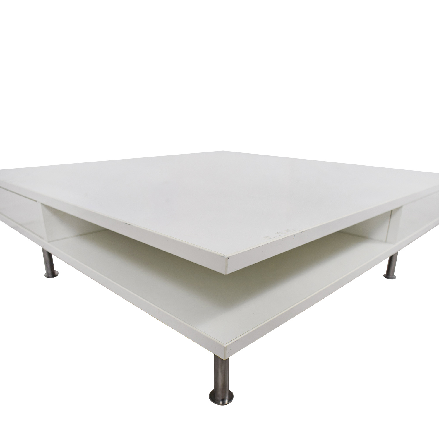 Excellent 61 Off Ikea Ikea White Two Drawer Low Coffee Table Tables Lamtechconsult Wood Chair Design Ideas Lamtechconsultcom