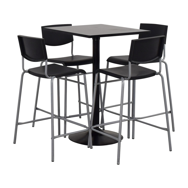 63% OFF - IKEA IKEA Black Counter Kitchen Table Set / Tables
