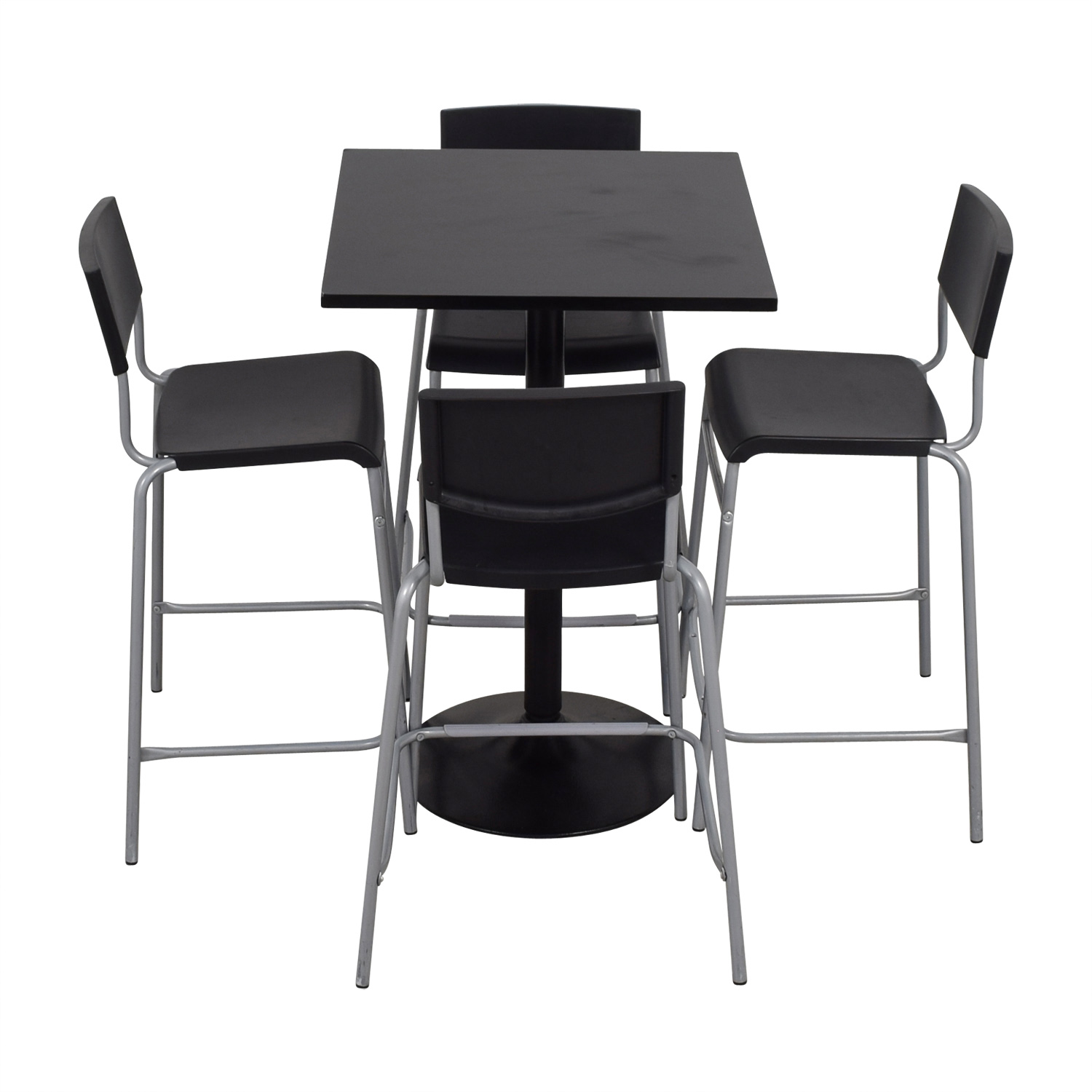 IKEA Black Counter Kitchen Table Set sale