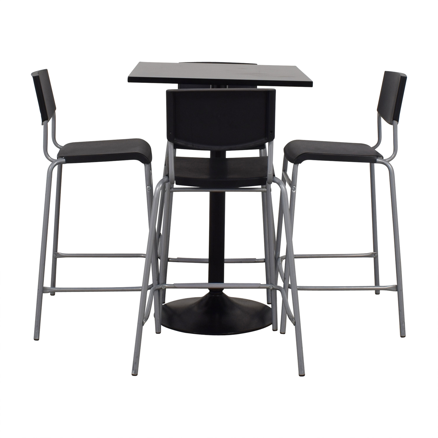 63% OFF - IKEA IKEA Black Counter Kitchen Table Set / Tables