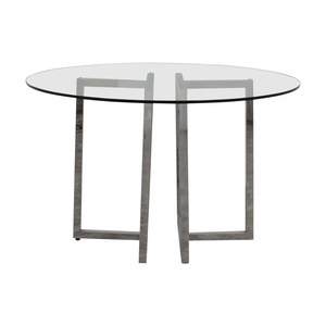 buy CB2 Silverado Glass Round Dining Table CB2