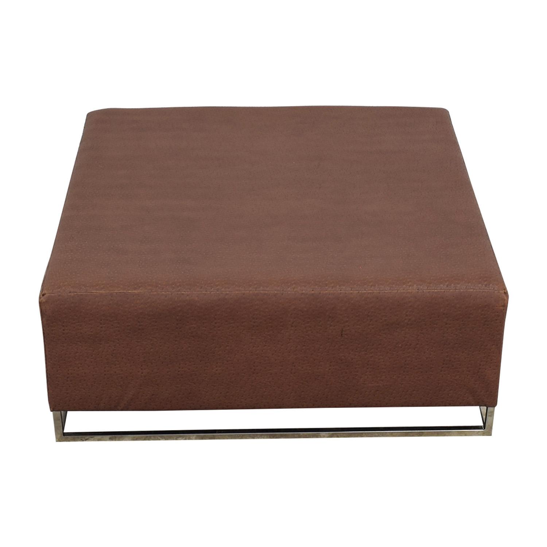 buy Bernhart Cognac Ottoman Bernhart Chairs