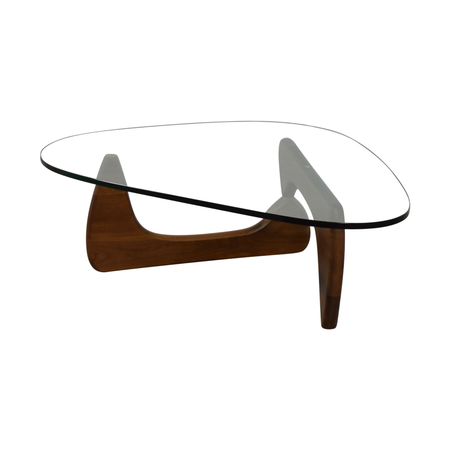 wonderful Used Noguchi Coffee Table Part - 2: ... Noguchi Noguchi Walnut and Glass Coffee Table Signed discount ...