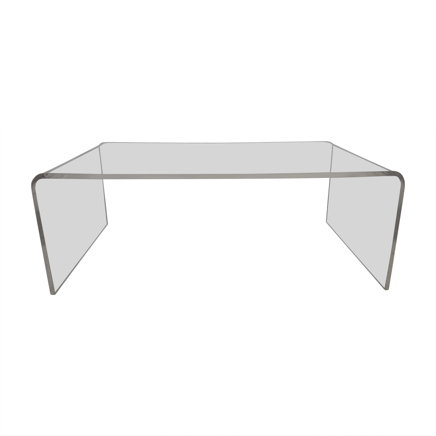 OFF CB CB Peekaboo Acrylic Ghost Tall Coffee Table Tables - Cb2 peekaboo coffee table