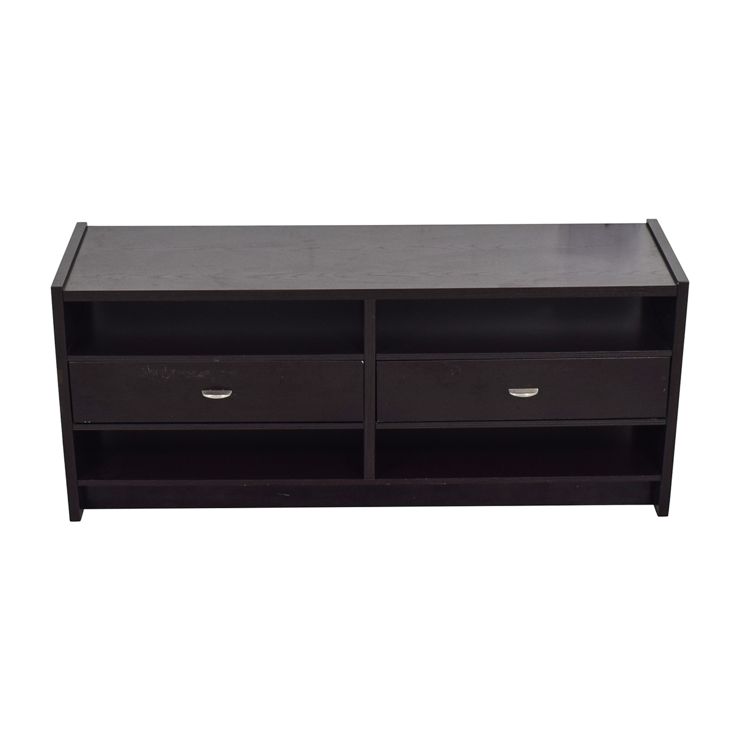 shop Wood Two-Drawer TV Stand  Storage