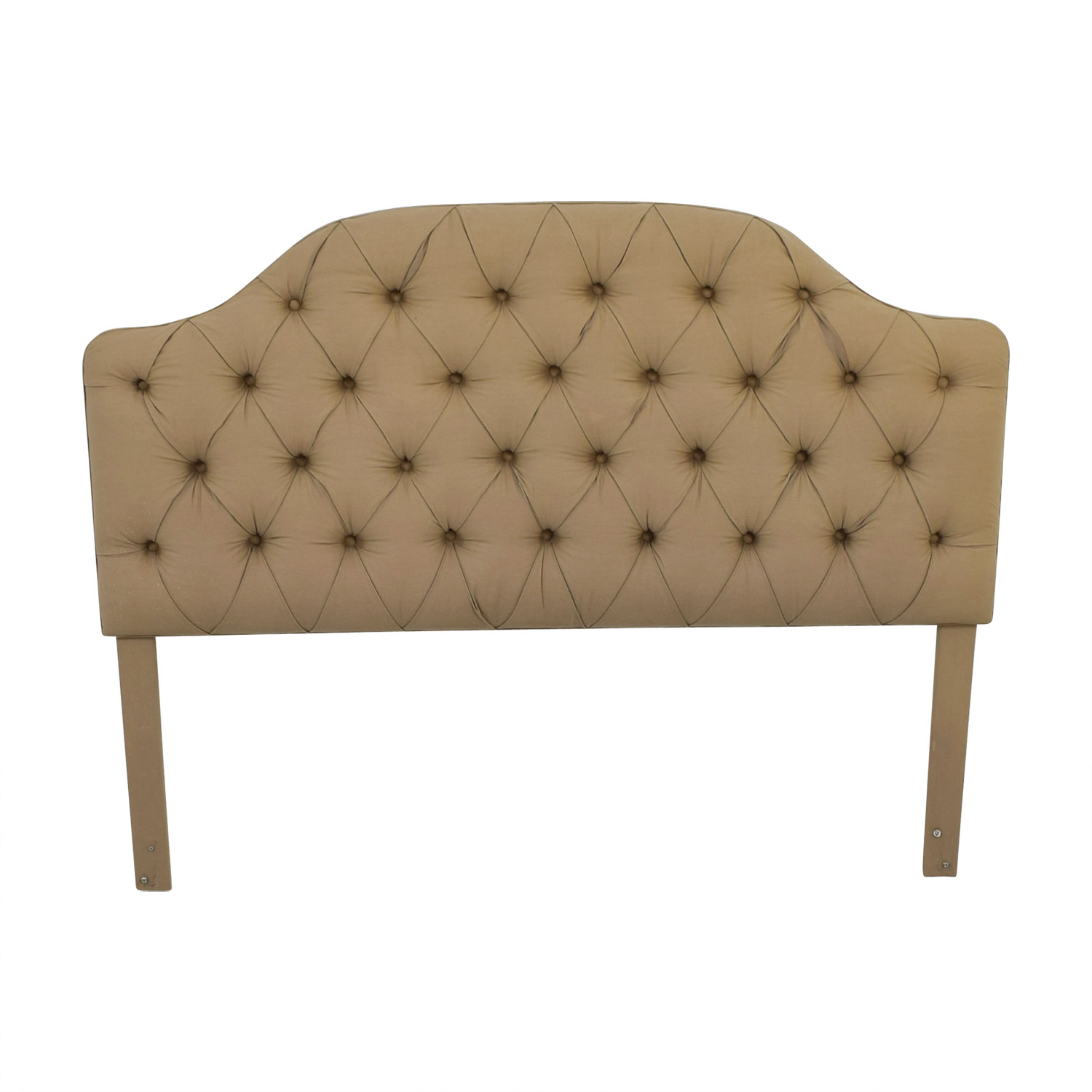 Custom Beige Tufted Queen Headboard Headboards