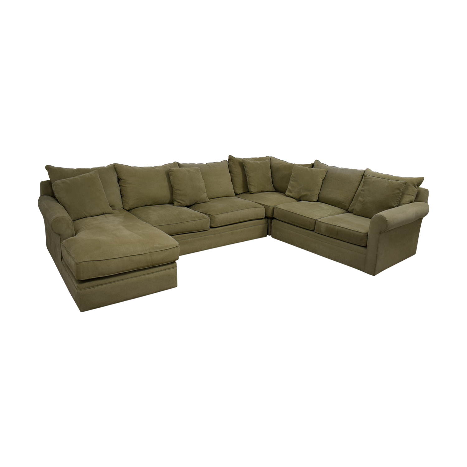 Macy's Macy's Beige L-Shaped Chaise Sectional dimensions