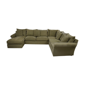 Macy's Macy's Beige L-Shaped Chaise Sectional second hand