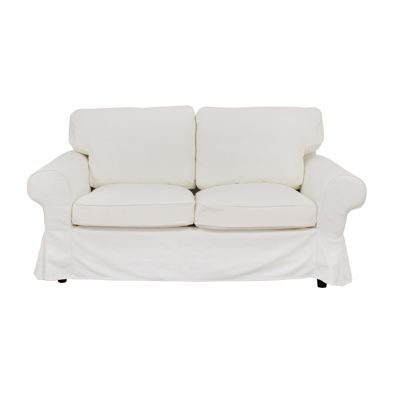 IKEA IKEA Ektorp White Skirted Two-Cushion Loveseat used