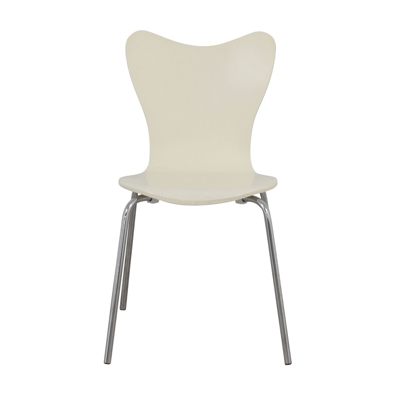 West Elm West Elm White Scoop Chair used