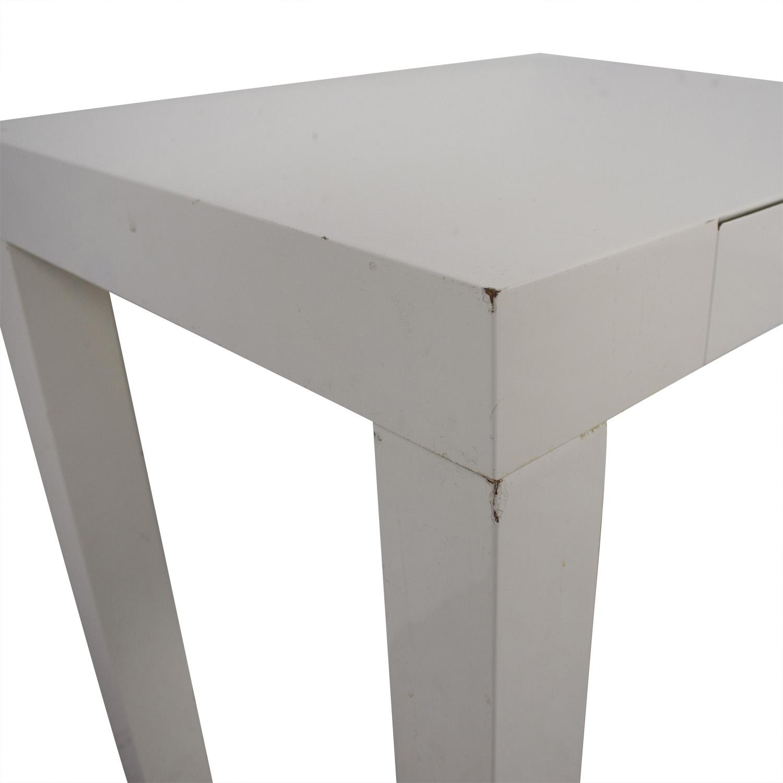 45 Off West Elm West Elm White Mini Parsons Desk Tables
