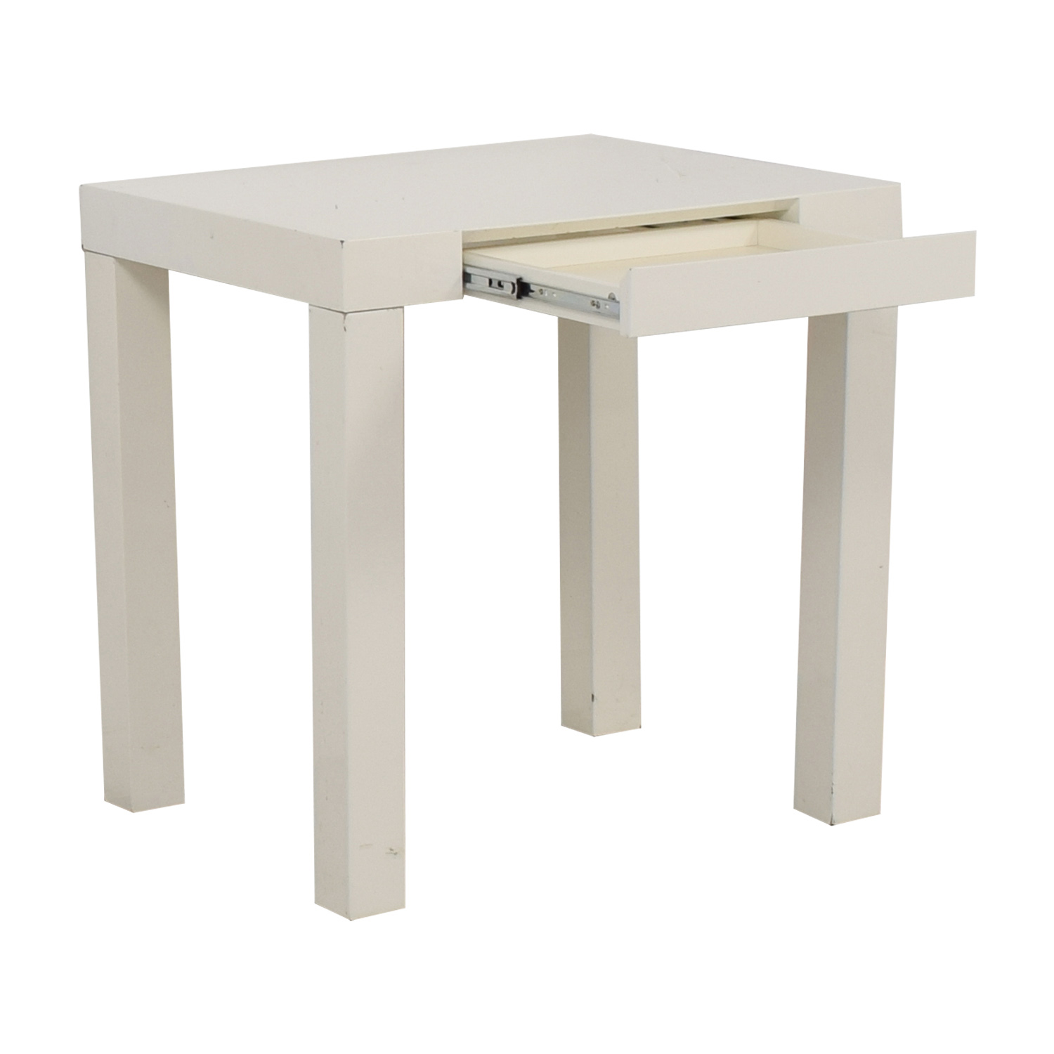 ... West Elm White Mini Parsons Desk Sale ...