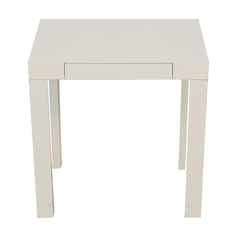 West Elm West Elm White Mini Parsons Desk Tables