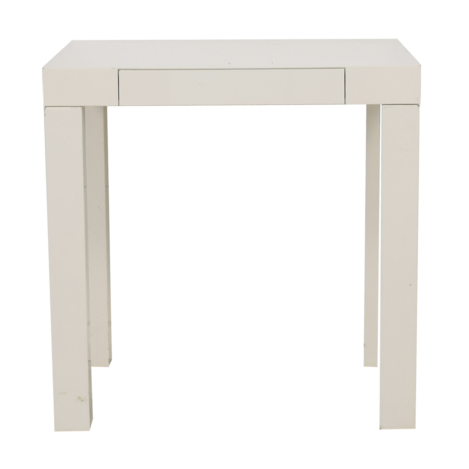 West Elm White Mini Parsons Desk
