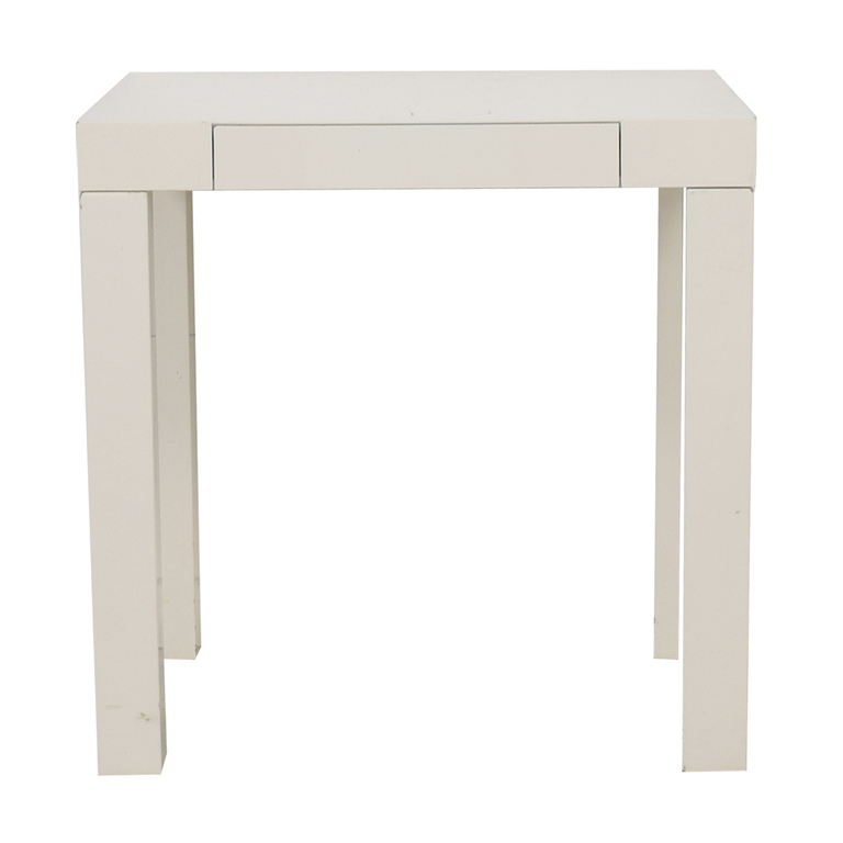 West Elm West Elm White Mini Parsons Desk nj
