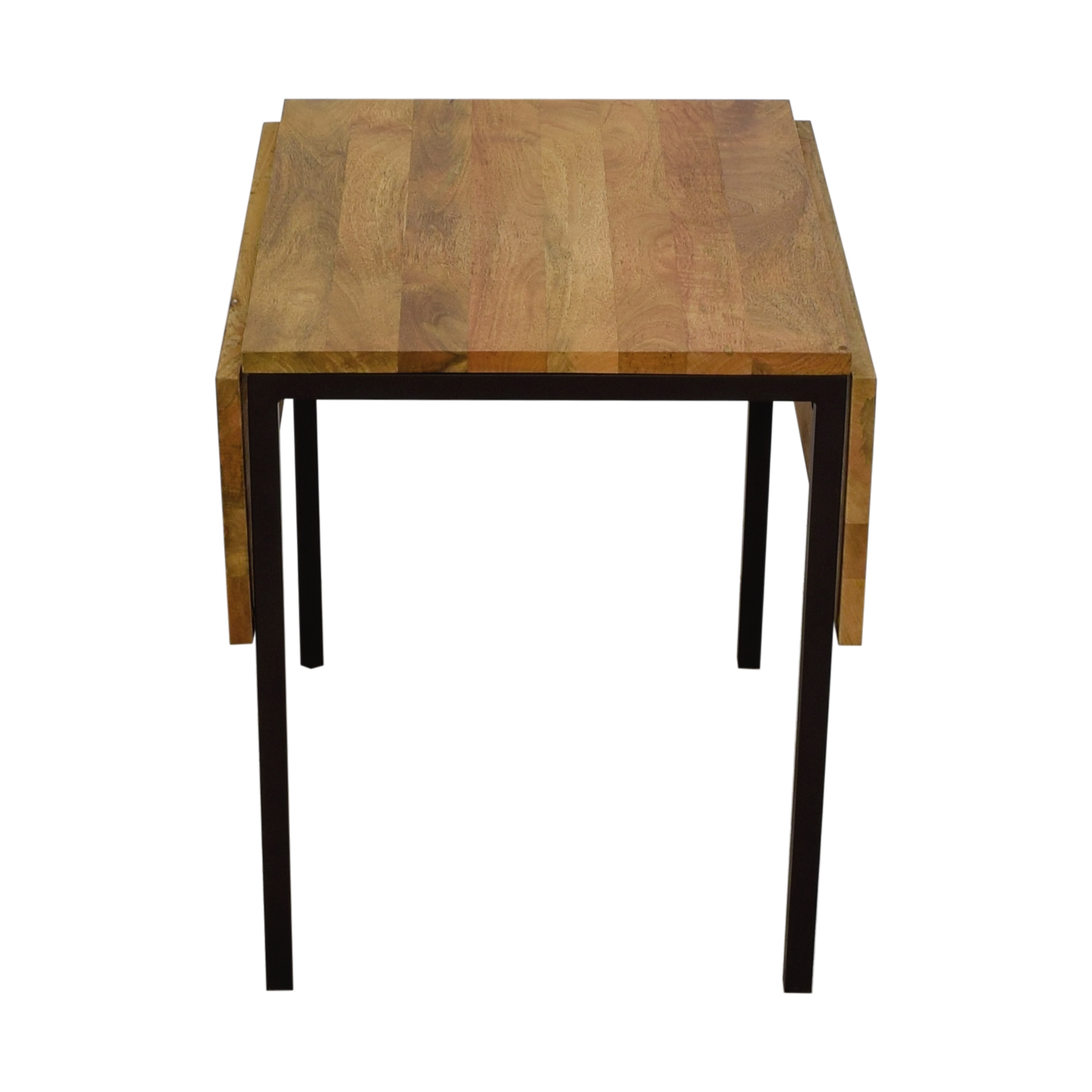 shop West Elm West Elm Box Frame Drop Leaf Dining Table Raw Mango online