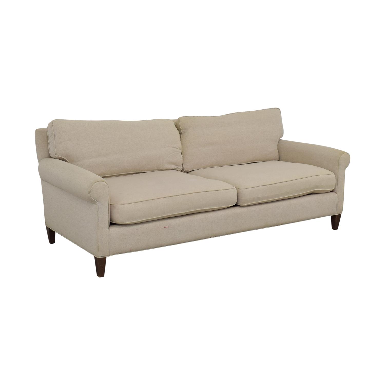 Crate & Barrel Crate & Barrel Montclair Beige Two Cushion Sofa coupon