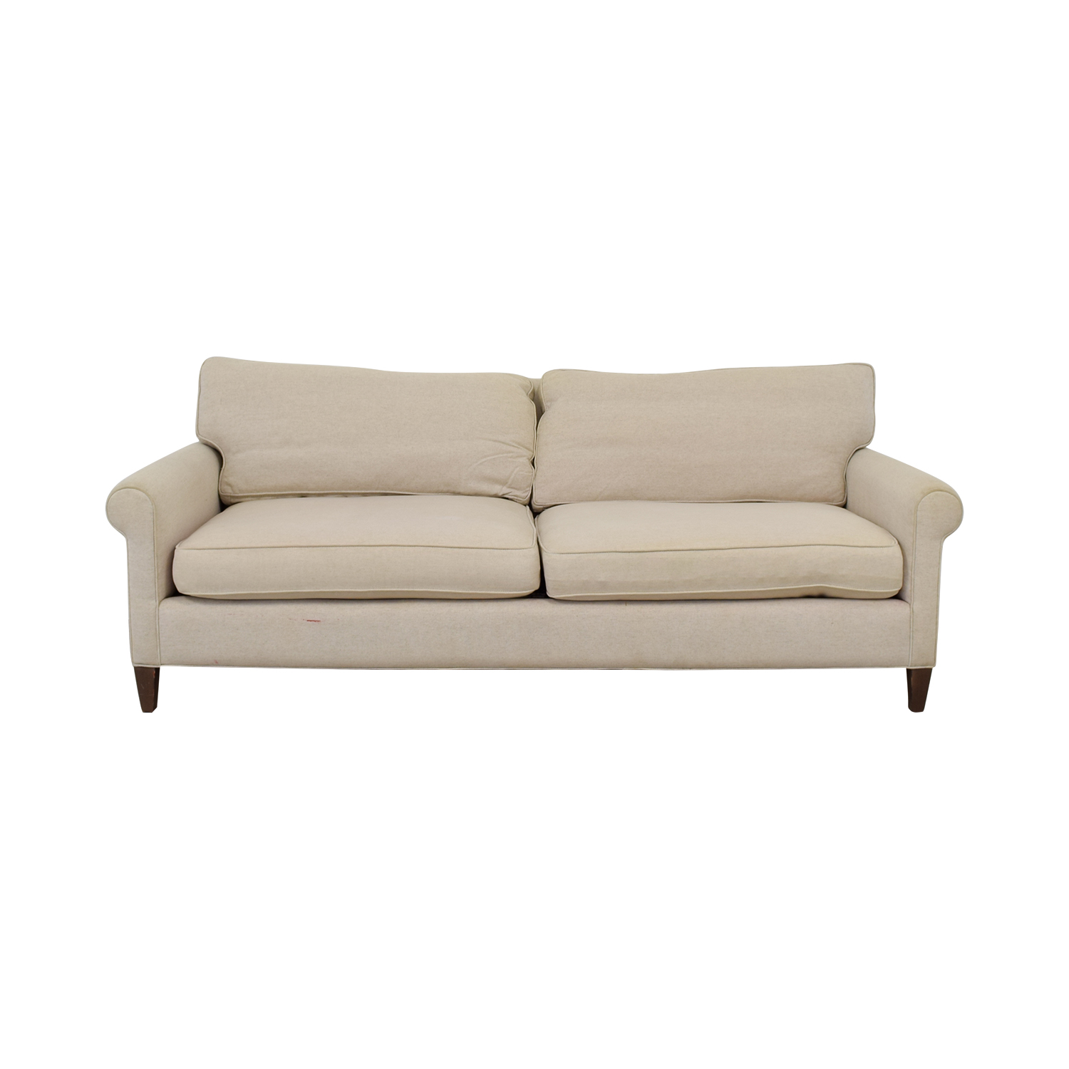 Crate & Barrel Montclair Beige Two Cushion Sofa / Sofas