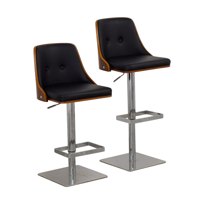 shop Sunpan Modern Braiden Adjustable Bar Stools Sunpan Modern Chairs