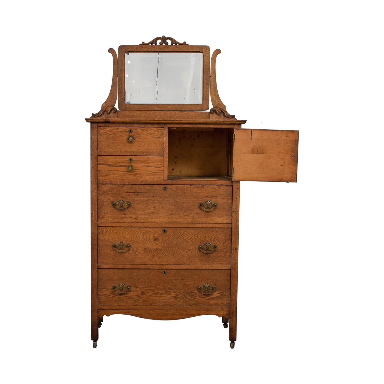 Antique Tall Dresser with Mirror sale