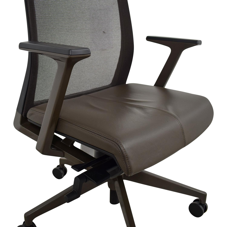 Crate & Barrel Haworth Brown Very Task Office Chair sale