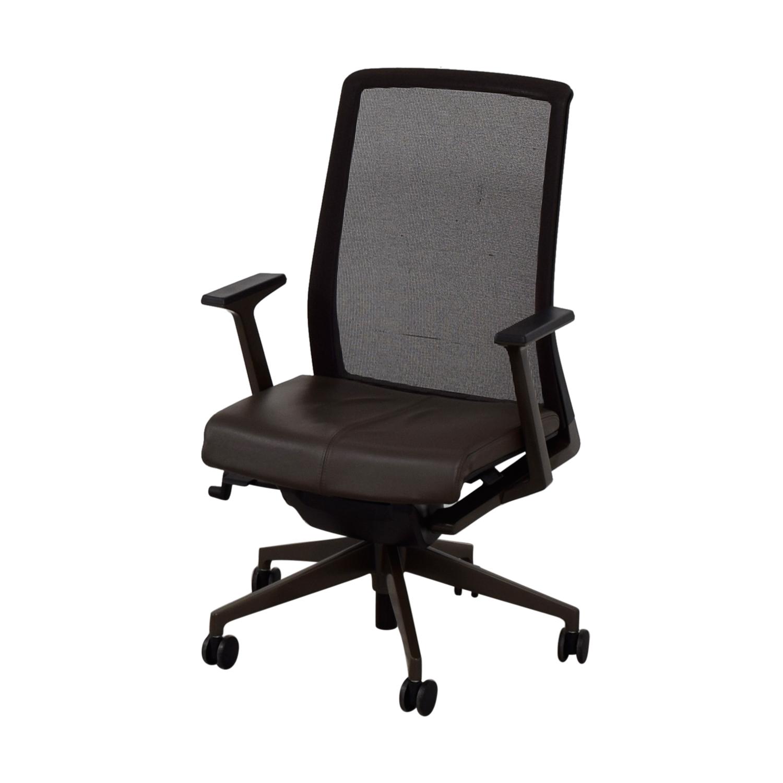 shop Crate & Barrel Haworth Brown Very Task Office Chair Crate & Barrel Home Office Chairs