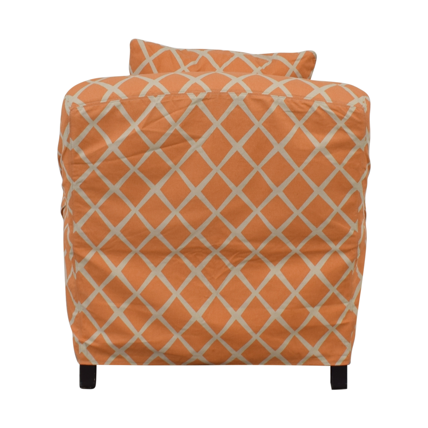 Lee Industries Lee Industries Orange and White  Accent Chair