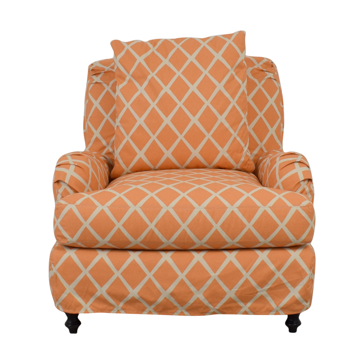 Lee Industries Lee Industries Orange and White  Accent Chair dimensions
