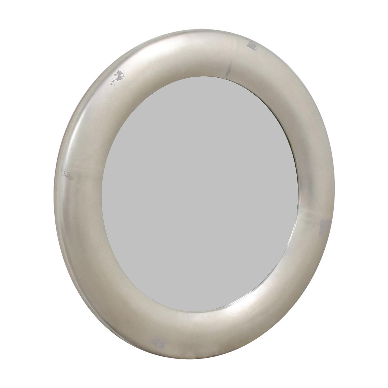 shop Ethan Allen Round Silver Leaf Mirror Ethan Allen Mirrors
