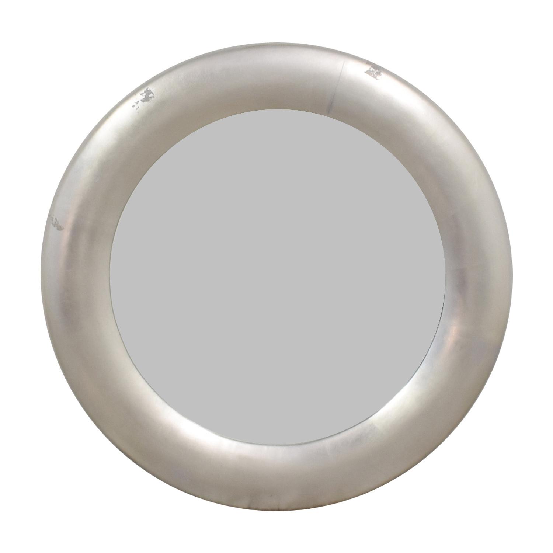 Ethan Allen Ethan Allen Round Silver Leaf Mirror second hand