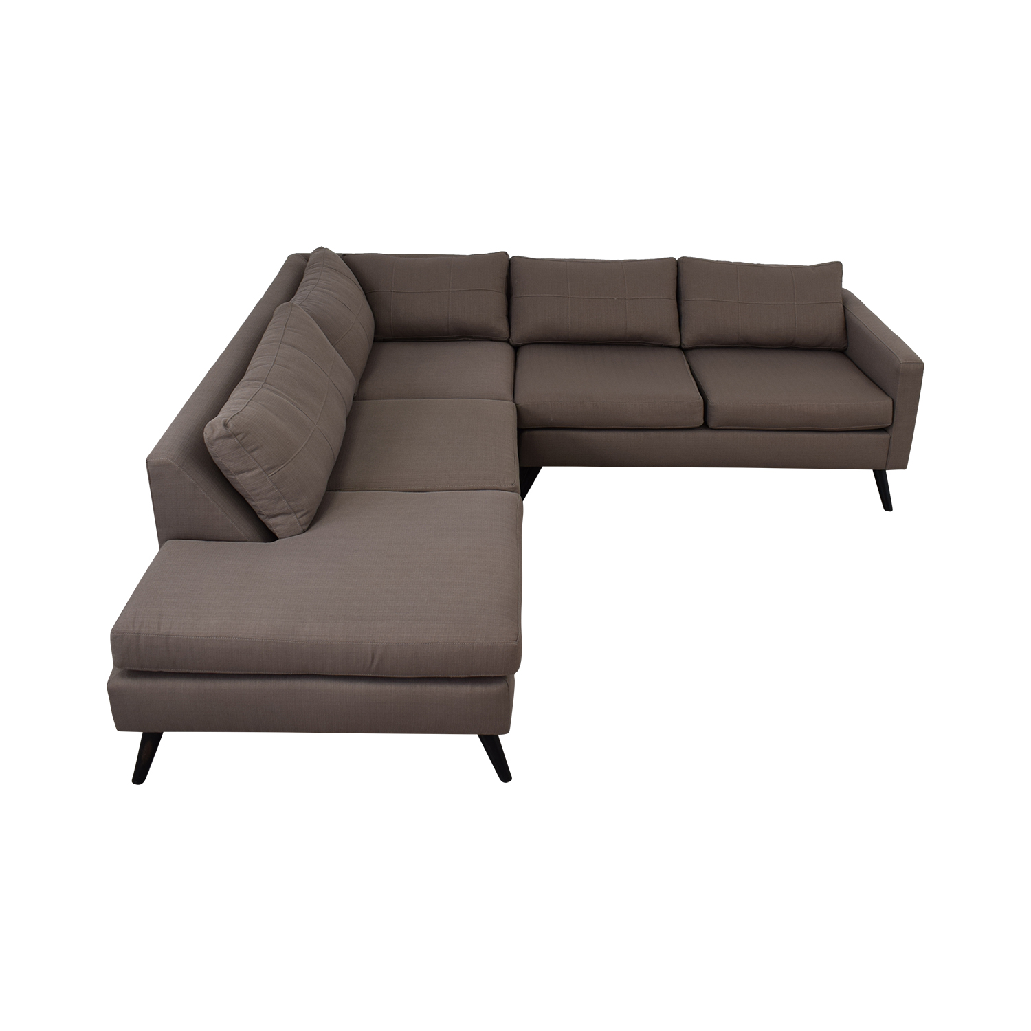 buy TrueModern Dane Grey L-Shaped Sectional TrueModern Sectionals