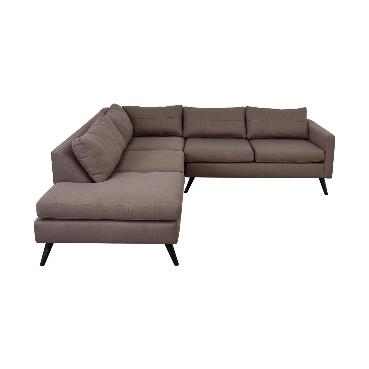 shop TrueModern Dane Grey L-Shaped Sectional TrueModern